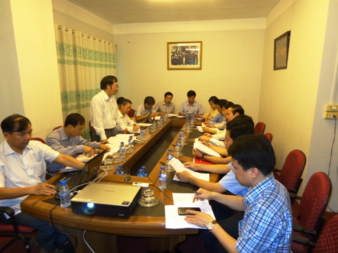 The delegation of the  Central Committee's Economic Commission working with  VINASME